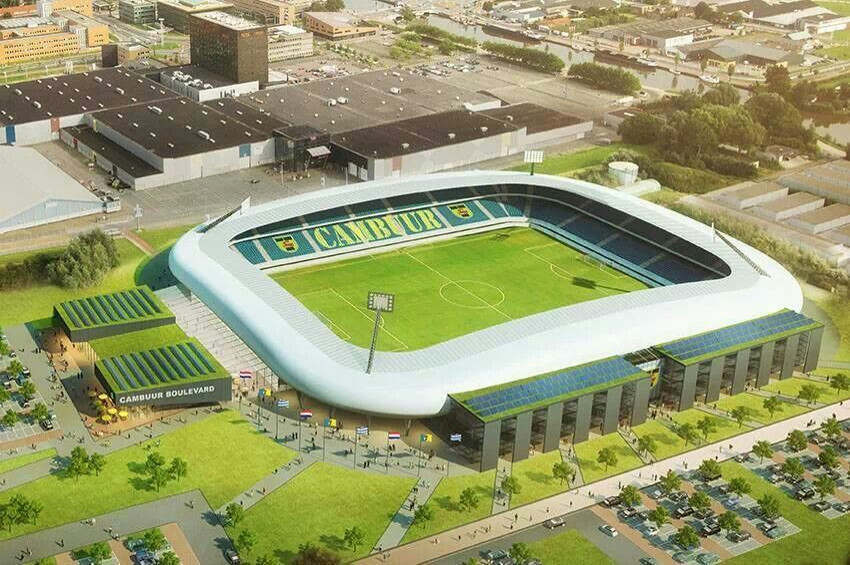 Cambuurs's Stadium, Netherland. Fonte geotermica