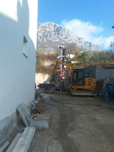 Lavori per l'impianto geotermico di Vitulano