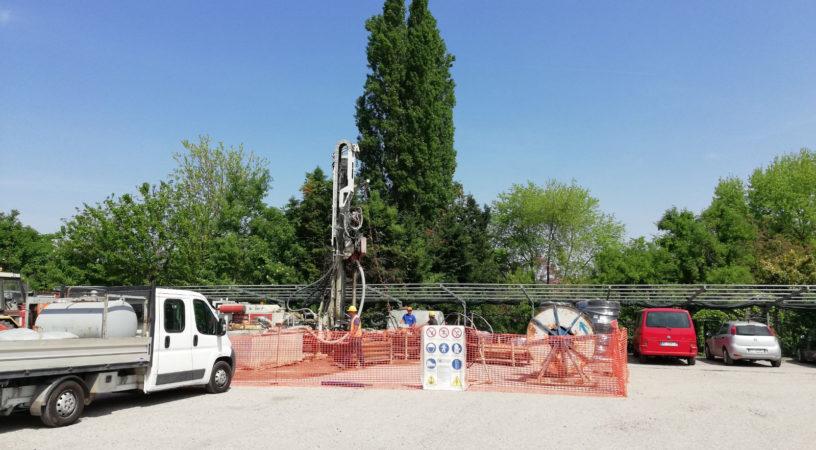 Lavori oer fornire servizi geotermici al sito industriale Rangoni e Affini di Mantova